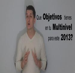 Objetivos en tu negocio multinivel para el 2013
