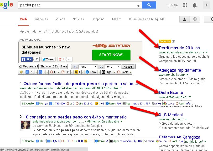 Ejemplo de mercado de google.