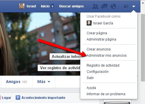 Crear un anuncio de publicidad en facebook