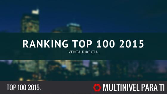El increíble ranking Top 100 2015 de venta directa