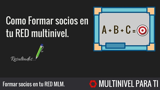Formar socios en tu red mutlinivel