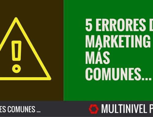 5 errores comunes de marketing y como solucionarlos.